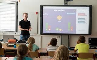 amh digital audio visual schools interactive screen